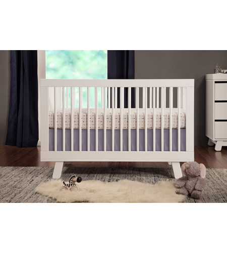 Babyletto Hudson White Baby Cot