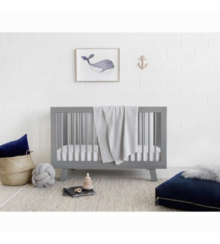 Babyletto Hudson Grey Baby Cot