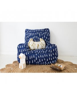 Indigo Raindrops Chair